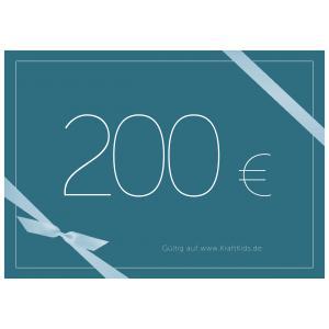 Geschenkgutschein Wert 200,00 Euro