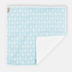 KraftKids Wickelunterlage weiße Pfeile auf Blau wasserundurchlässig