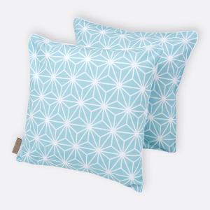 KraftKids Kissenbezug weiße Diamante auf Pastel Blau