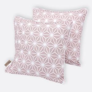 KraftKids Kissenbezug weiße Diamante auf Cameo Rosa