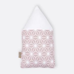 KraftKids Dekoration Stoffhäuschen weiße Diamante auf Cameo Rosa Inhalt: ein kleines und großes Häuschen