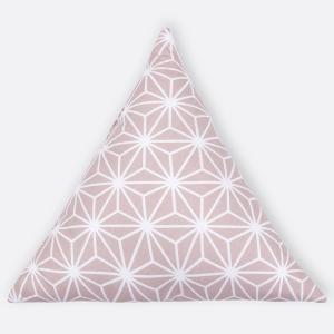 KraftKids Dekoration Stoffdreieck weiße Diamante auf Cameo Rosa