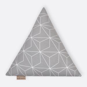 KraftKids Dekoration Stoffdreieck weiße dünne Diamante auf Grau