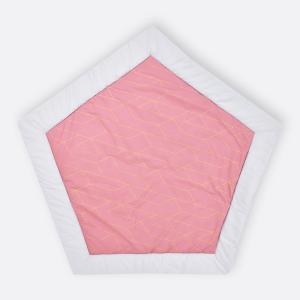 KraftKids Spielmatte goldene Linien auf Rosa