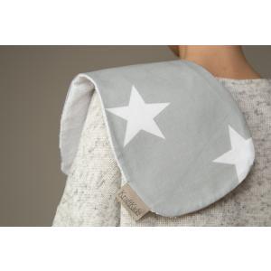 KraftKids Spucktuch große weiße Sterne auf Grau