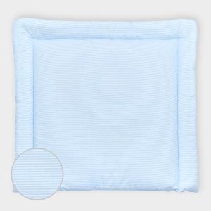 miniFifia Wickelauflage Streifen hellblau dünn breit 75 x tief 70 cm