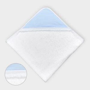 miniFifia Kapuzenhandtuch Streifen hellblau dünn