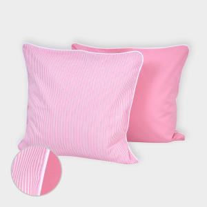 miniFifia Kissenbezug Unirosa und Streifen rosa