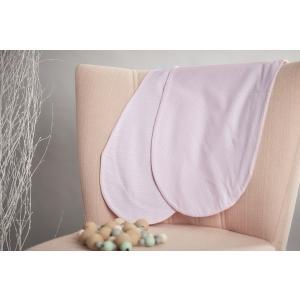 KraftKids Stillkissenbezug kleine Blätter rosa auf Weiß