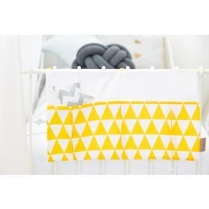 KraftKids Betttasche gelbe Dreiecke
