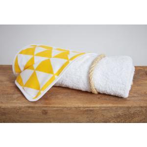 KraftKids Wickelunterlage gelbe Dreiecke wasserundurchlässig