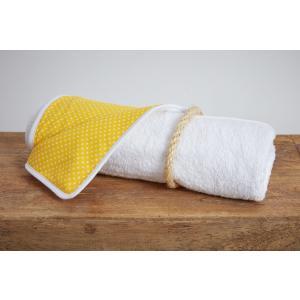 KraftKids Wickelunterlage weiße Punkte auf Gelb wasserundurchlässig