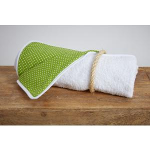 KraftKids Wickelunterlage weiße Punkte auf Grün wasserundurchlässig