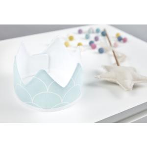 KraftKids Dekoration Stoffkrone weiße Halbkreise auf Pastelmint
