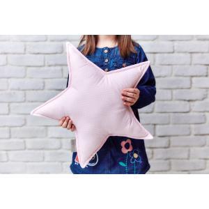 KraftKids Dekoration Sternkissen kleine Blätter rosa auf Weiß