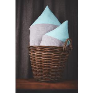 KraftKids Dekoration Stoffhäuschen weiße Punkte auf Grau und weiße Punkte auf Mint Inhalt: ein kleines und großes Häuschen