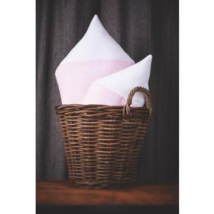 KraftKids Dekoration Stoffhäuschen Uniweiss und weiße Punkte auf Rosa Inhalt: ein kleines und großes Häuschen