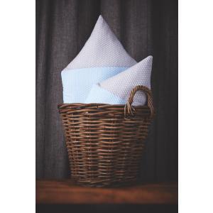 KraftKids Dekoration Stoffhäuschen kleine Blätter hellblau auf Weiß und kleine Blätter hellgrau auf Weiß Inhalt: ein kleines und großes Häuschen
