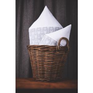 KraftKids Dekoration Stoffhäuschen weiße Pfeile auf Grau und Uniweiss Inhalt: ein kleines und großes Häuschen