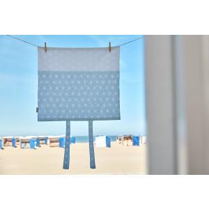 KraftKids Bezug für Wickeltischauflage weiße Diamante auf Pastel Blau