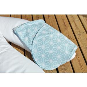 KraftKids Stillkissenbezug weiße Diamante auf Pastel Blau
