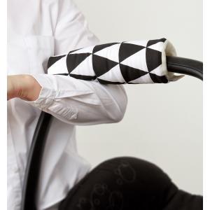 KraftKids Armschoner Babyschale schwarze Dreiecke Babyschale Armpolster