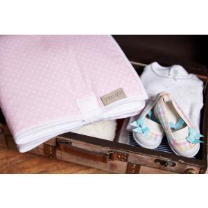 KraftKids Reisewickelunterlage weiße Punkte auf Rosa wasserundurchlässig