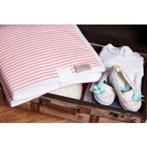 KraftKids Reisewickelunterlage Streifen rosa wasserundurchlässig