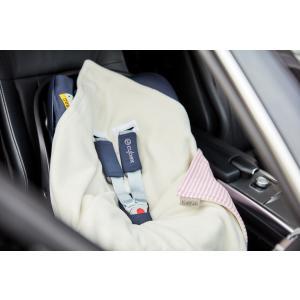 KraftKids Einschlagdecke für Babyschale Streifen rosa