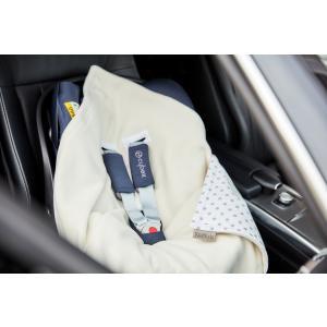 KraftKids Einschlagdecke für Babyschale graue Punkte auf Weiss