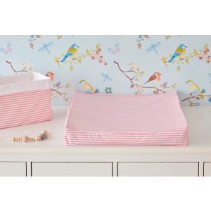 KraftKids Bezug für Keilwickelauflage Streifen rosa