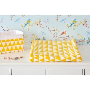 KraftKids Bezug für Keilwickelauflage gelbe Dreiecke