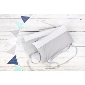 KraftKids Nestchen Uniweiss und Unigrau Nestchenlänge 60-60-60 cm für Bettgröße 120 x 60 cm