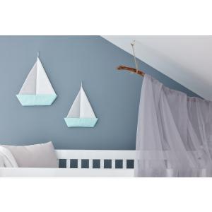 KraftKids Dekoration Segelboot weiße Punkte auf Mint