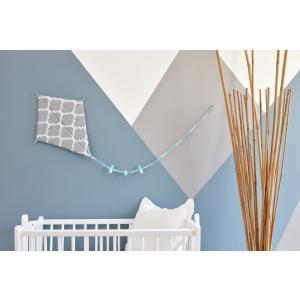 KraftKids Dekoration Luftdrache marokkanisches Klee grau