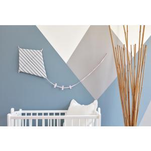 KraftKids Dekoration Luftdrache dicke Streifen grau