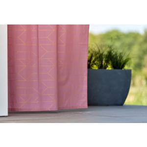 KraftKids Gardinen goldene Linien auf Rosa Länge: 230 cm