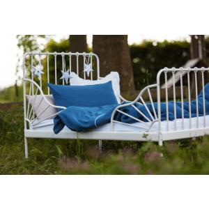 KraftKids Bettwäscheset Musselin blau 140 x 200 cm, Kissen 80 x 80 cm