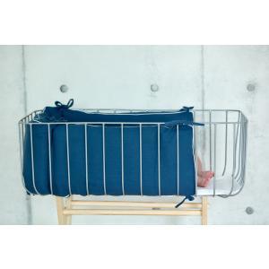 KraftKids Nestchen Musselin blau Nestchenlänge 60-70-60 cm für Bettgröße 140 x 70 cm