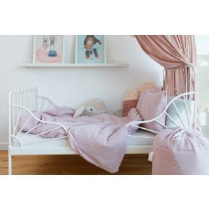 KraftKids Bettwäscheset Musselin rosa Pusteblumen 100 x 135 cm, Kissen 40 x 60 cm
