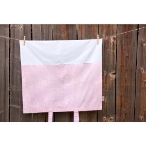 KraftKids Bezug für Wickeltischauflage Streifen rosa