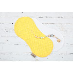 KraftKids Spucktuch weiße Punkte auf Gelb