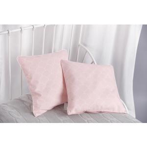 KraftKids Kissenbezug weiße Halbkreise auf Pastelrosa