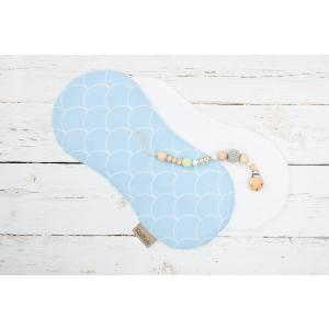 KraftKids Spucktuch weiße Halbkreise auf Pastelblau