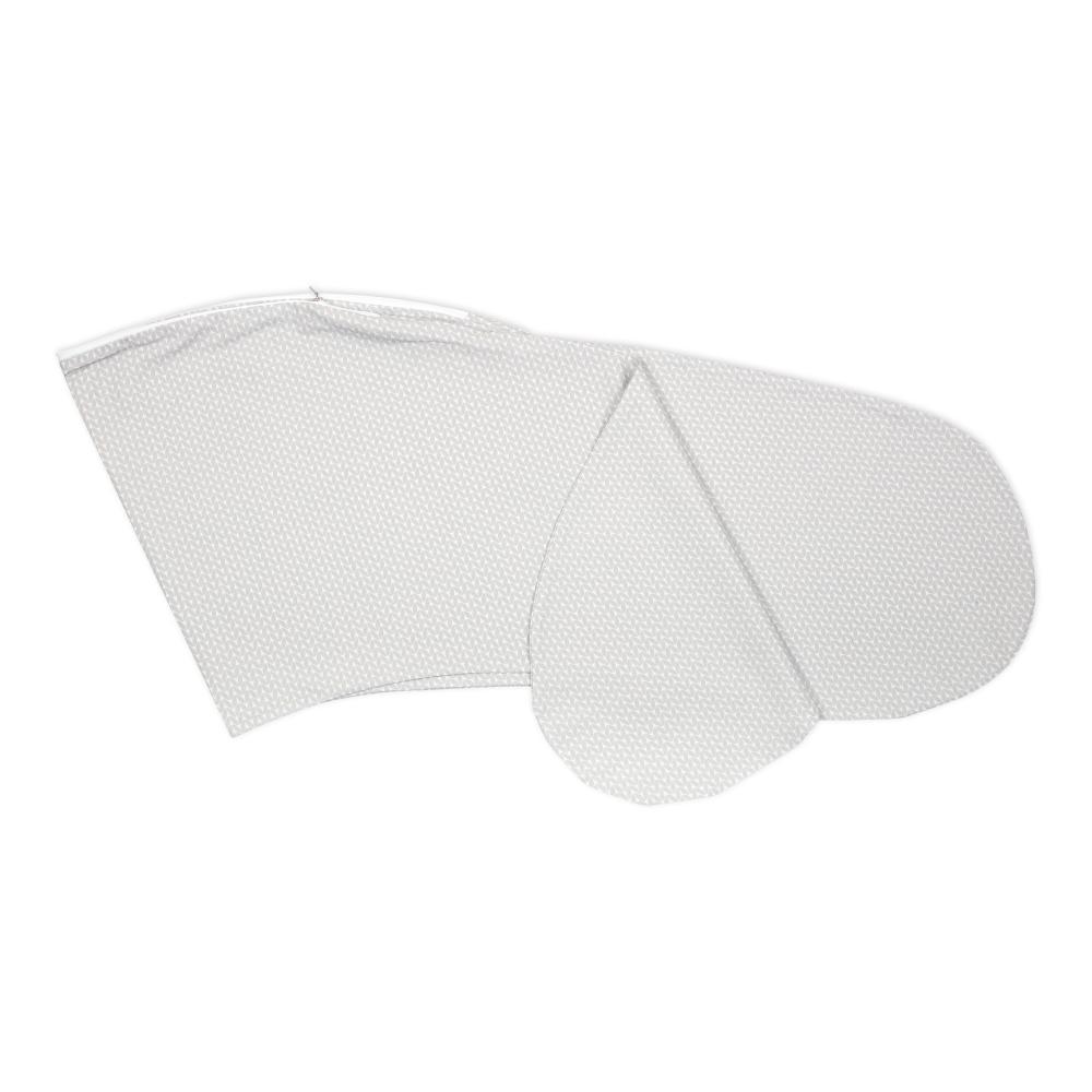 KraftKids Stillkissenbezug kleine Blätter hellgrau auf Weiß