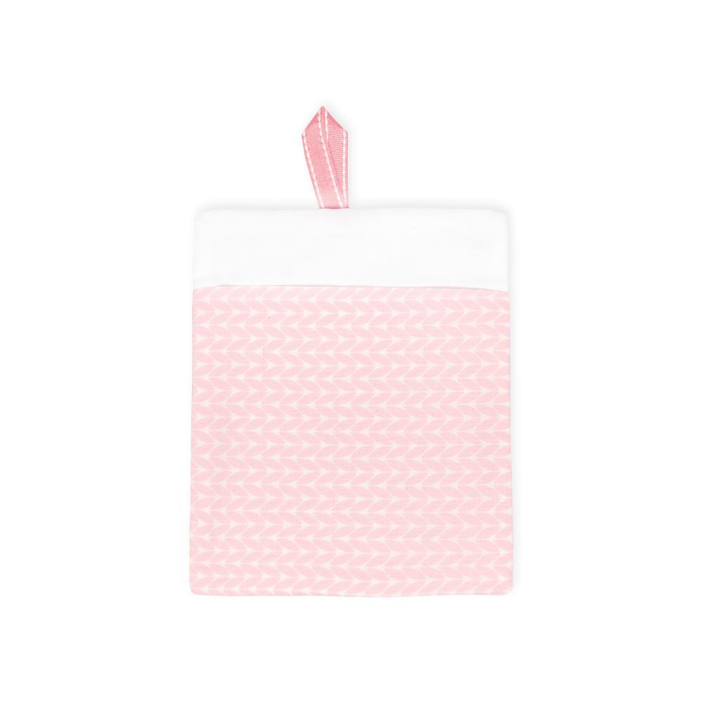 KraftKids Waschlappen kleine Blätter rosa auf Weiß