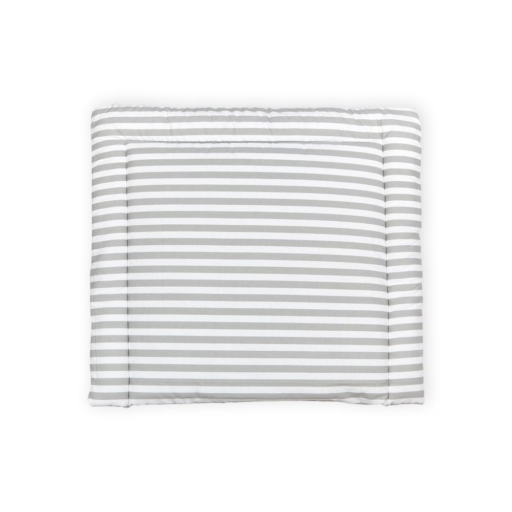 KraftKids Wickelauflage dicke Streifen grau breit 75 x tief 70 cm