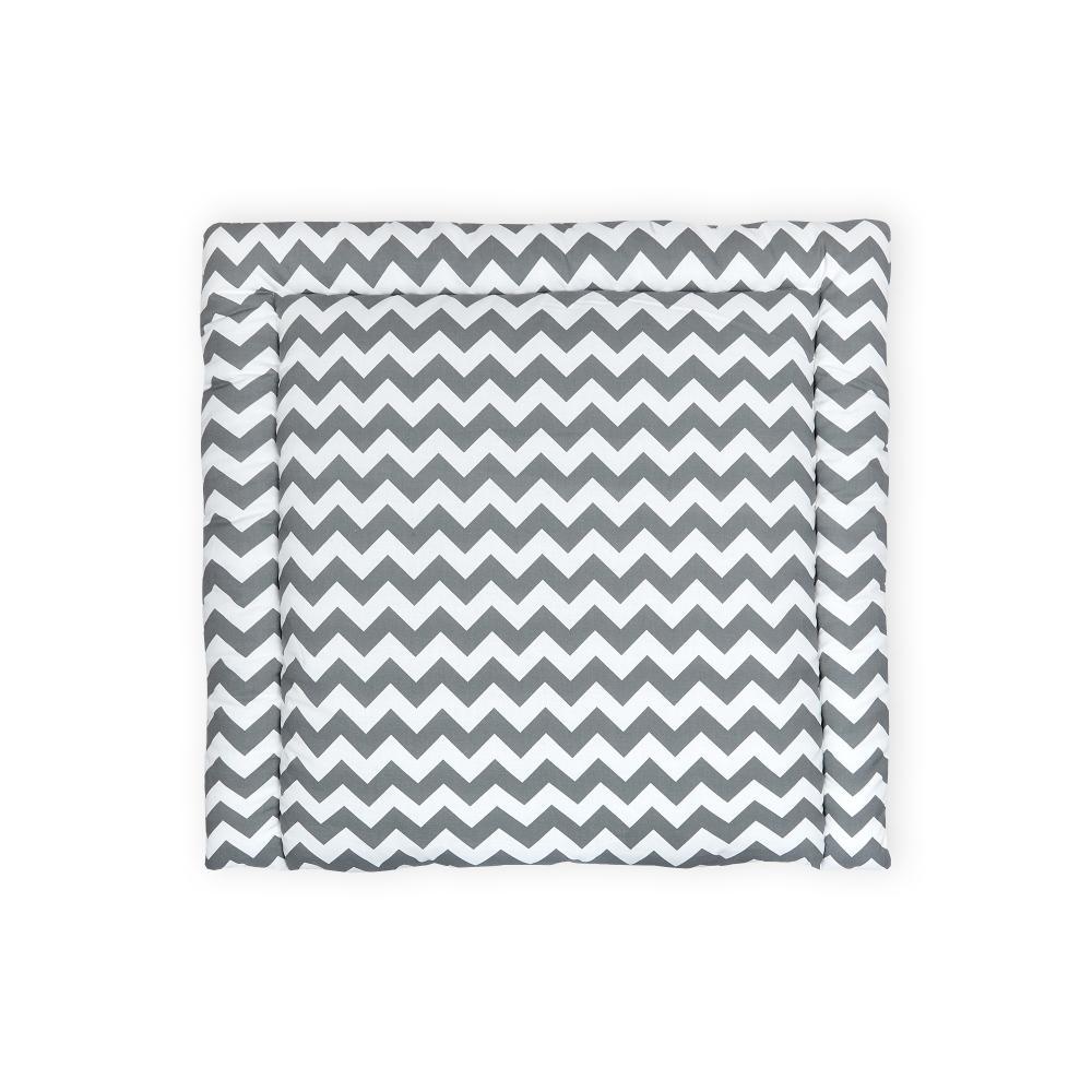 KraftKids Wickelauflage Chevron grau breit 60 x tief 70 cm passend für Waschmaschinen-Aufsatz von KraftKids