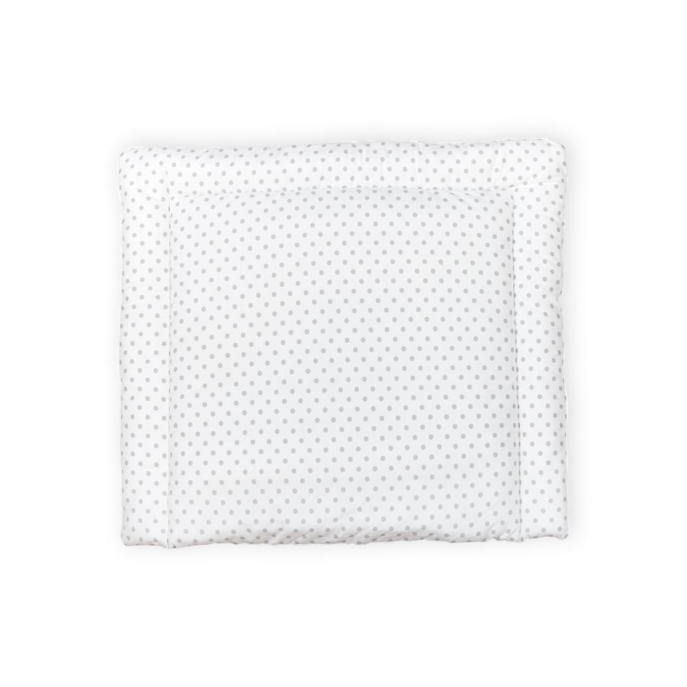 KraftKids Wickelauflage graue Punkte auf Weiss breit 75 x tief 70 cm