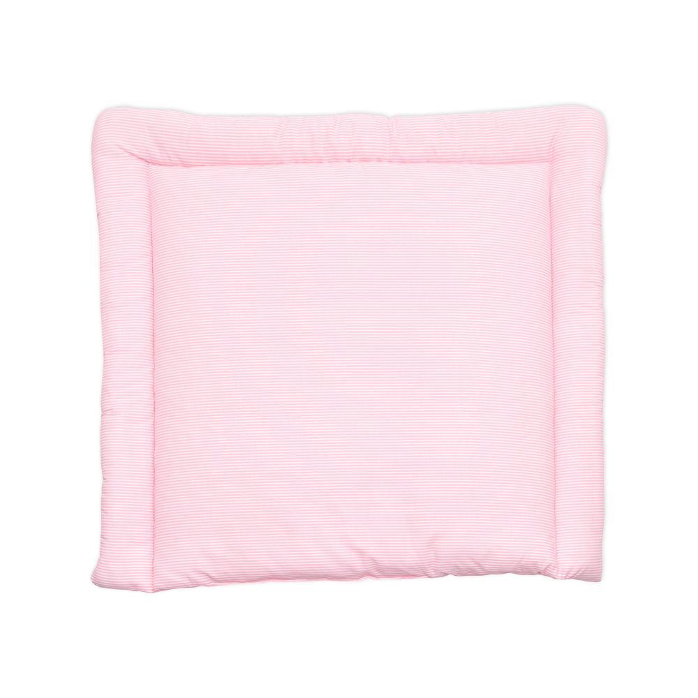 miniFifia Wickelauflage Streifen rosa breit 78 x tief 78 cm z. B. für MALM oder HEMNES Kommodenaufsatz von KraftKids